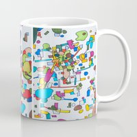 cities Mugs featuring Sister Cities by theartistmakena
