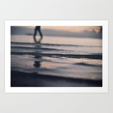 Swim 'til you can't see land Art Print