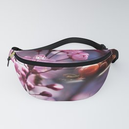 Fresh cherries in the pink blossom dream Fanny Pack
