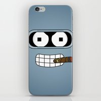 bender iPhone & iPod Skins featuring Bender Robot by OverClocked
