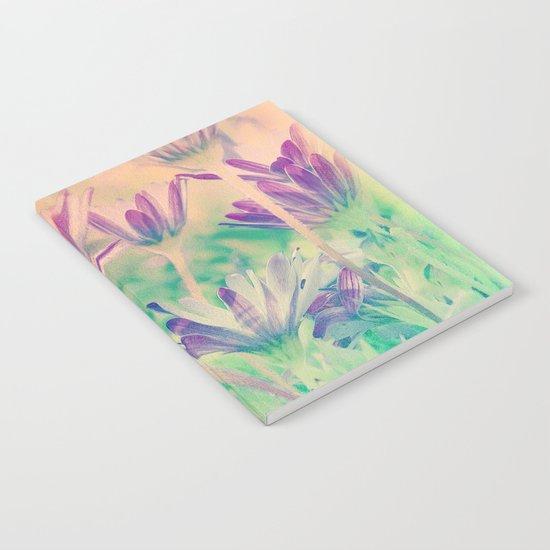 Dreamy Spring Lavender Daisy Flowers Notebook