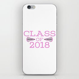 Class of 2018 Lacrosse - Pink iPhone Skin