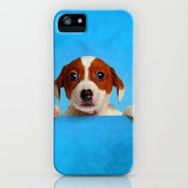 Cute Jack Russell Terrier Puppy iPhone Case
