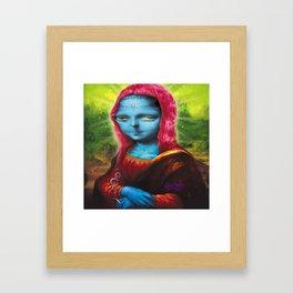 Blue Mona Framed Art Print