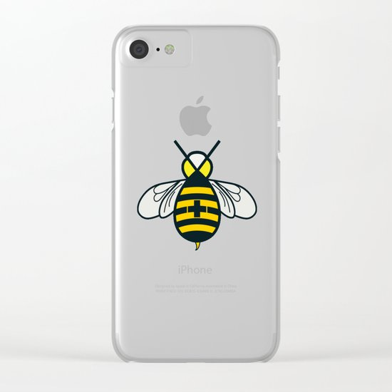Be positive - Living Hell Clear iPhone Case