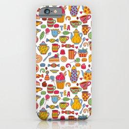 Tea time doodles iPhone Case