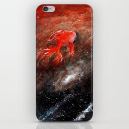 goldfish cosmos iPhone Skin