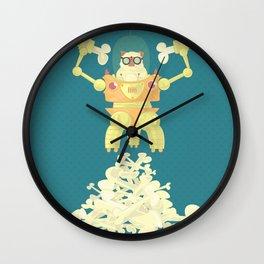 Pug Robopuppy Wall Clock
