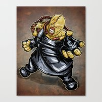 resident evil Canvas Prints featuring Nemesis: Resident Evil by Patrick Scullin