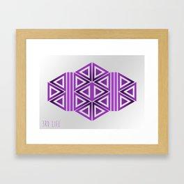 Violet Triangles Framed Art Print