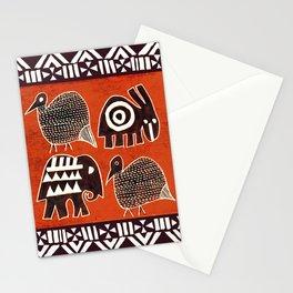 African Animal Folk Art Stationery Cards