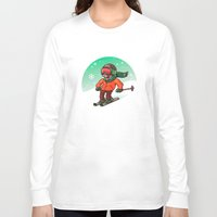 ski Long Sleeve T-shirts featuring Ski by nicosarmiento