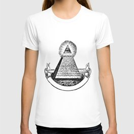 the Eye of Providence from the Great seal of America  All seeing Eye us dollar money cash Pyramid T-shirt