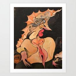 Princess with Thorns Painting  Art Print
