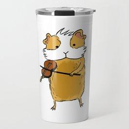 Guinea pig playing violin Travel Mug