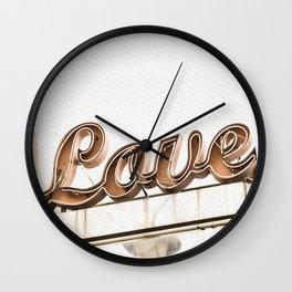 Vintage Love Marquee Sign -  Romantic Retro Special Wall Clock