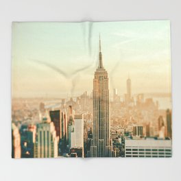 New York City Skyline Dreams Throw Blanket