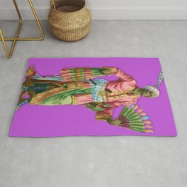 Colorful Portrait Indian Royalty Rug