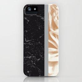 Cafe Au Lait Flower Meets Gray Black Marble #5 #decor #art #society6 iPhone Case