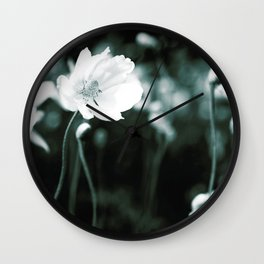 White Japanese Anemone flowers Wall Clock