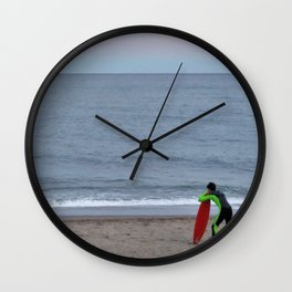 Patient Surfer Wall Clock
