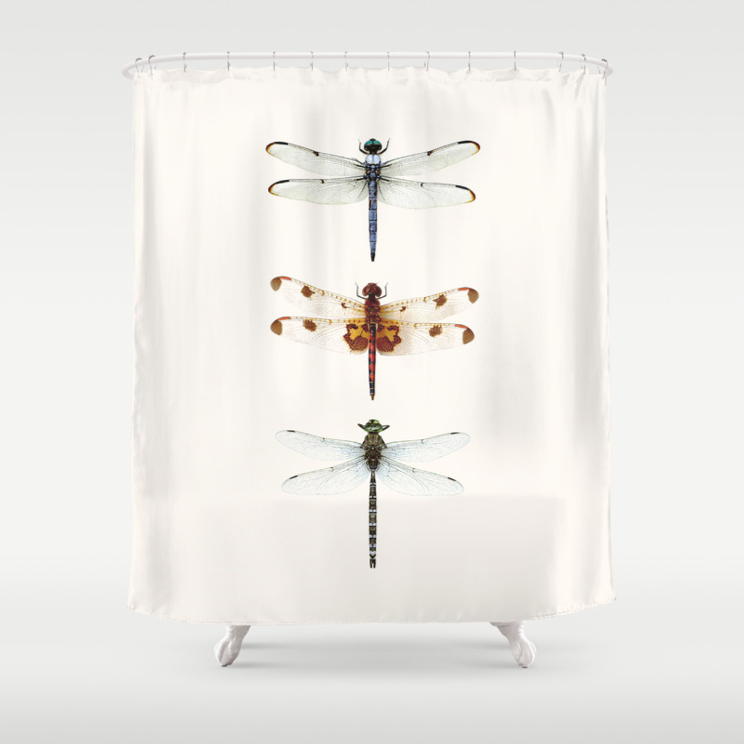butterfly shower curtains society6. Black Bedroom Furniture Sets. Home Design Ideas
