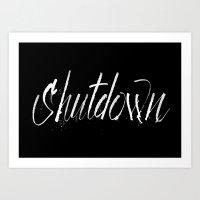 Shutdown Art Print