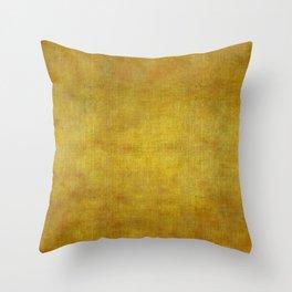 """""""Gold & Ocher Burlap Texture"""" Throw Pillow"""