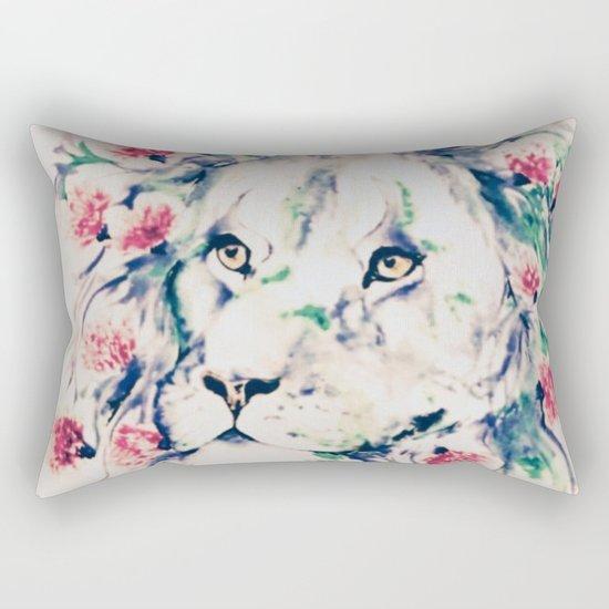 Floral lion Rectangular Pillow