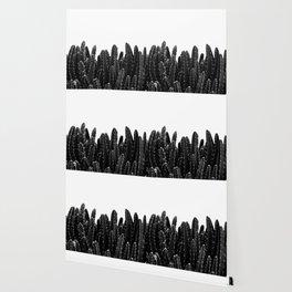 Black Cacti Dream #1 #minimal #decor #art #society6 Wallpaper