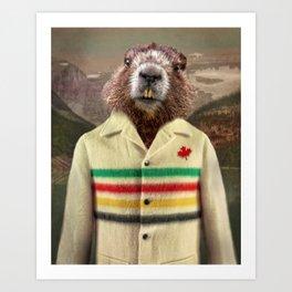 Hudson Beaver Art Print