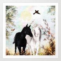 Unicorn Love Art Print