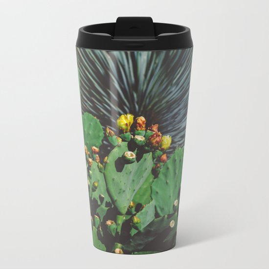 Wild Blooms Metal Travel Mug