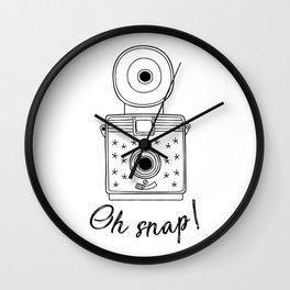 Vintage Camera Oh Snap! Wall Clock