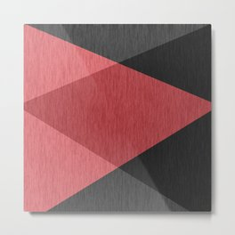 Red , gray , black , abstract Metal Print