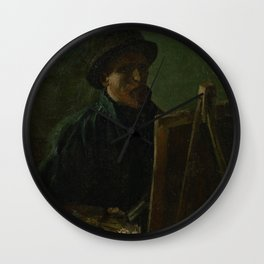 Self-Portrait as a Painter Wall Clock