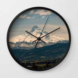 Mountain Valley Pacific Northwest - Nature Photography Wall Clock