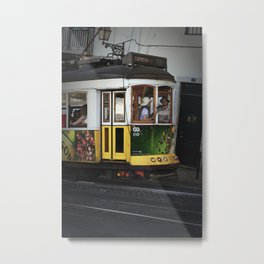 Tram. Lisbon, Portugal. Metal Print