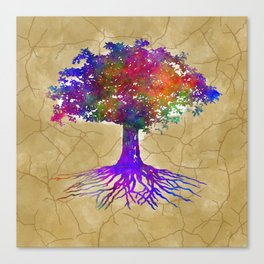 Tree Of Life Batik Print Canvas Print