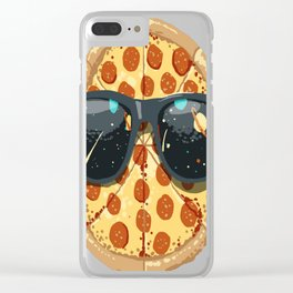 Cool-Pizza Clear iPhone Case