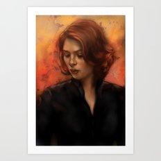 Black Widow Natasha Romanoff Art Print