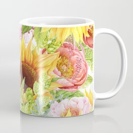 Sunflower Collage Coffee Mug