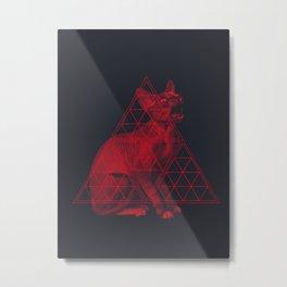 Sacred Sphynx dark Metal Print
