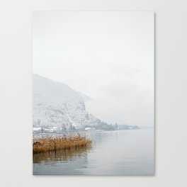 Annecy under the snow - French Alps Canvas Print