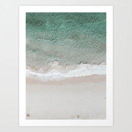 ocean from above Art Print
