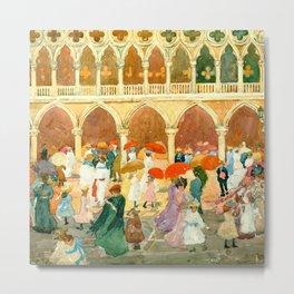 "Maurice Prendergast ""Sunlight on the Piazzetta"" Metal Print"