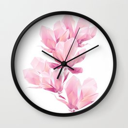 Crystal Pink orchid, polygon flowers, beautiful floral background Wall Clock