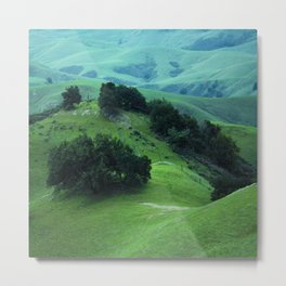 Fairytale Lush Hillsides With Magical Dreams Scenic Metal Print