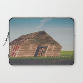 Long Shadows Leaning Barns Laptop Sleeve