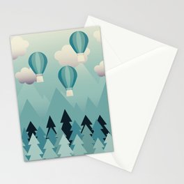 Hot Air Balloons Stationery Cards